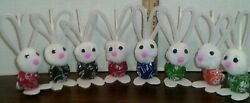 Bunny Tootsie Roll Pop Holiday Easter Novelty Party Favors Lot of 8 assort $12.99