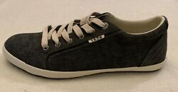 Taos Footwear Moc Star Women Charcoal Wash Canvas Lace Up Casual Sneaker US 10 $69.99
