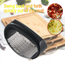 Kitchen Stainless Steel Garlic Press Daily Useful Cooking Tools Crushed ABS $4.84