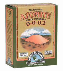 Down to Earth Azomite 5 lbs All Natural Dry Fertilizer ORMI Listed 0 0 0.2 $22.00