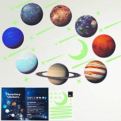 Glow in The Dark Stars Solar System Planets Wall Stickers Glowing Ceiling for $10.94