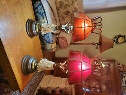 Vintage hula girl lamp With Red Glass Lamps $1500.00