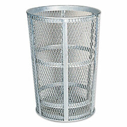 Rubbermaid Commercial Street Trash Can 24 Inch Diameter 45 Gallon Silver New