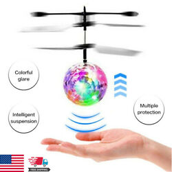 2021 Flash Flying Ball Infrared Induction Colorful LED Disco RC Helicopter Toy $18.69