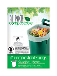 Al Pack P RGBC2430COMP Clear 0.8 mil Thick Plastic Compost Bags 13 gal. Capacity $12.02