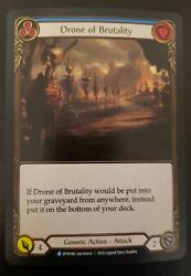 Flesh and Blood Blue Drone of Brutality WTR166 Rainbow Foil Unlimited $25.00