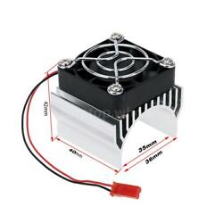 RC Motor Heat Sink With Cooling Fan for 1 10 540 Motor Silver $14.00