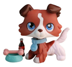 Lpsloverqa lps Custom Collie Dog Red coffee dog Collectable3 Accessories Rare $7.99