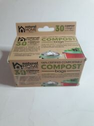 NATURAL HOME BRANDS 30 Pack Compost Bags for 1 1.3 amp; 1.8 Gallons Bins Green $9.99