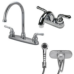 RV Mobile Home Kitchen and Lav Faucet Combo with Shower Head Diverter Chrome $69.99