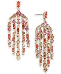 INC International Concepts Stone Chandelier Earrings Rose Gold $24.00