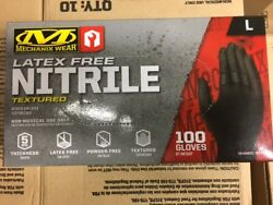 Mechanix Wear Nitrile Latex Free Textured Black Gloves Case Qty $150.00