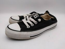 Converse All Star Women#x27;s Shoes Elastic Heel Size 5 Black Canvas Low Top $34.99