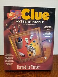 CLUE MYSTERY PUZZLE 500 PIECE quot;FRAMED FOR MURDERquot; COMPLETE $12.49