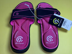 Girl#x27;s Slide Sandal Champion Size Small 13 1 Pink L1 $9.99