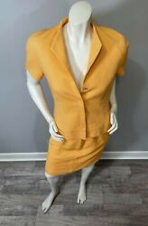 Carlisle Womens Pencil Skirt Short Sleeve Lined Suit Skirt Size 8 Top Size 6 $39.99