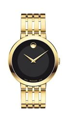 Movado Men#x27;s Esperanza Yellow Gold Watch with a Concave Dot Museum Dial Gold... $679.00