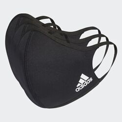 adidas FACE COVERS 3 PACK BLACK SIZE M L H08837