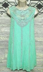 Saved By The Dress Women#x27;s Summer Size S Green Sleeveless REALLY CUTE $9.86