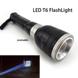 Zoomable T6 LED FlashLight Flash Light Torch Lamp Powerful Tactical Lanterna $9.99