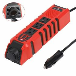 Neptune Power DC 12V To AC 110V Car Power Inverter 2 USB 3 Outlets Heat Protect $26.95