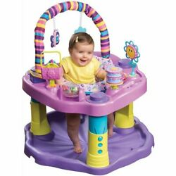 baby learn and play Evenflo Exersaucer Bounce and secure Sweet Tea Party $131.99