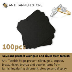 100pcs Anti Tarnish Paper Tab Strips for Silver Gold amp; Jewelry Protection $19.94