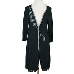 Stein Mart Women#x27;s Floral Embroidered Cardigan Sweater XL $19.00