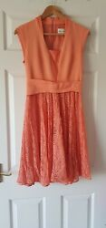 Women#x27;s Designer Dresses in Peach by REISS 8 u.k
