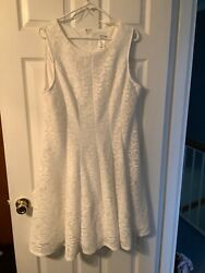 Womens Studio One White Cocktail Dress NWOT Size 18 Fully Lined $16.50