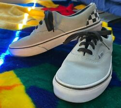 VANS #x27;#x27;OFF THE WALL#x27;#x27; KIDS SIZE 3 SUEDE SNEAKERS BOARD SHOES ALN EUC PLEASE READ $12.00