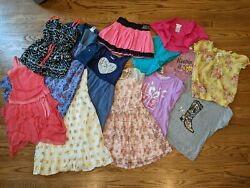 Girls Size 12 Clothing Lot Dresses Skirt Shorts Justice Abercrombie $26.00