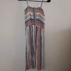 Angie Brand Striped Bohemian Dress Size Small $8.50