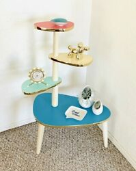 Space Age Plant Stand Mid Century Side Table Formica End Table Vintage 50s 60s $325.00