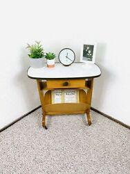 Mid Century Magazine Carte 50s Telephone Table Vintage Record Player Stand 60s $259.00