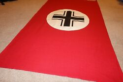 ww2 reproduction flag vehicle identification flag 42x28 heavy cotton one sided $53.00