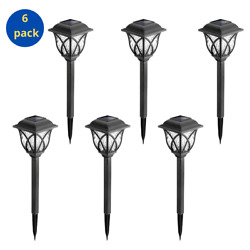 Solar Pathway Lights Outdoor for yard patio landscape 6 Pack Warm White