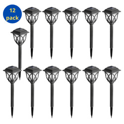 Solar Pathway Lights Outdoor for yard patio landscape 12 Pack Warm White