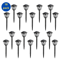 Solar Pathway Lights Outdoor for yard patio landscape 18 Pack Warm White