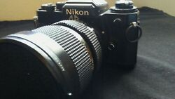 Nikon FE 35mm SLR Film Camera with access 72mm skylight lens