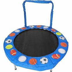 JumpKing Trampoline 4 Foot Bouncer for Kids Blue Sport Balls @generated $113.07