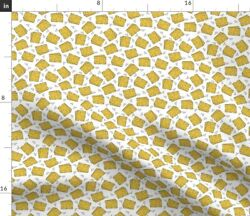 Cheese Novelty Food Print Smaller Dairy Spoonflower Fabric by the Yard $11.75