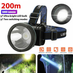 Super Bright 5000 Lumens LED Headlamp Rechargeable Headlight Torch for Hunting $12.98