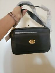 COACH 639 Cassie Leather Camera Bag Black gold New NWT $350 $230.00
