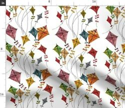 Nature Retro Children Whimsical Sky Toys Spoonflower Fabric by the Yard $22.00