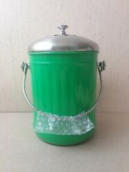 Green Metal Countertop Compost Bin $38.07