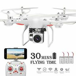 RC DroneWiFi 4K HD Camera Live Video RC Quadcopter with Altitude Hold $89.15