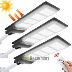 Solar Street Light Outdoor IP67 Lamp 100000LM Dusk to Dawn Commercial LightPole