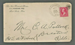 1897 US commercial cover KasCityamp;Memphis ND TR2 RPO Ft Scott KS Decatur IL