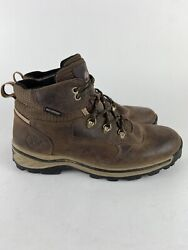 Timberland 66961 Waterproof Boys Size 6 Brown Leather Hiking Boots Shoes $28.99